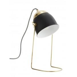 Lampe de bureau minimaliste rétro métal laiton noir Madam Stoltz