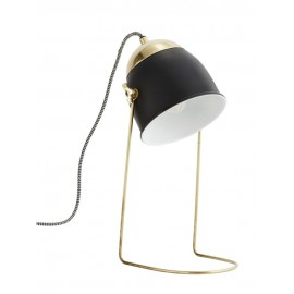 lampe de bureau minimaliste retro metal laiton noir
