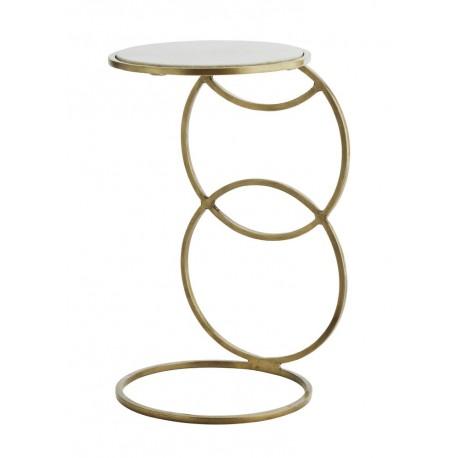 madam stoltz table basse d appoint art deco laiton antique marbre blanc