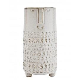 Vase visage Madam Stoltz Face grès écru H 21.5 cm