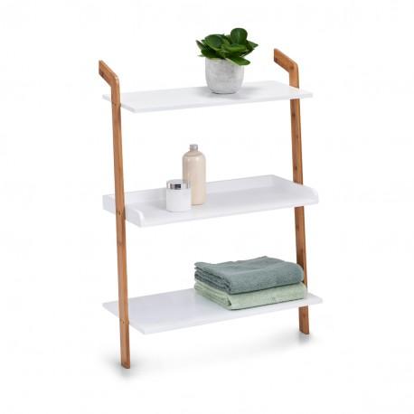 etagere echelle rangement salle de bains bois blanc zeller
