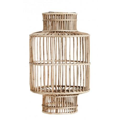Abat-jour design style lanterne bois bambou Madam Stoltz