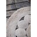 tapis rond jute naturel tresse deco d 100 cm ib laursen 6592-30