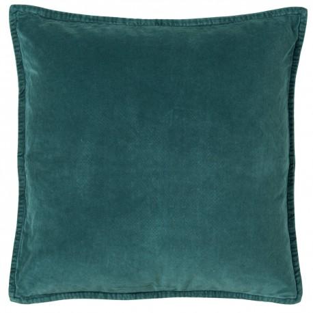 housse de coussin velours bleu canard 50 x 50 cm ib laursen 6230-46