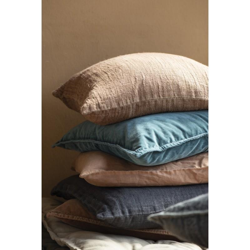 housse de coussin velours bleu canard 50 x 50 cm ib laursen 6230 46. Black Bedroom Furniture Sets. Home Design Ideas