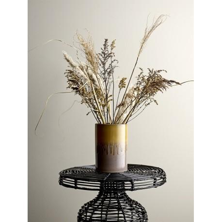 bloomingville table basse ronde rotin noir tresse 90256642