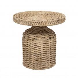Table basse ronde jacinthe d eau tressée Bloomingville
