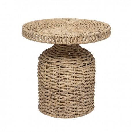 bloomingville table basse ronde jacinthe d eau tressee 90256641