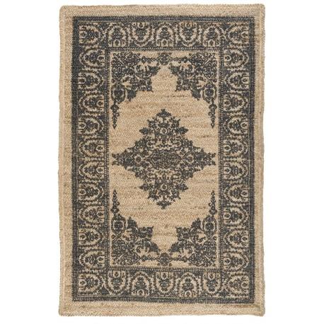 tapis rectangulaire en jute motif noir ib laursen 6839-00