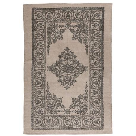 Tapis rosa malva rectangulaire coton beige gris IB Laursen 120 x 180 cm