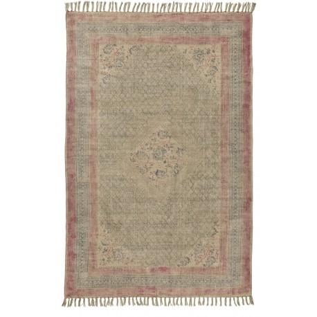 tapis coton delave vintage rose rectangulaire ib laursen 6463-00