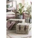 Tapis coton délavé vintage rose marron bleu rectangulaire IB Laursen 120 x 180 cm