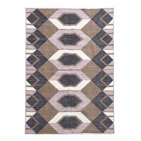 house doctor art tapis deco motif geometrique 230 x 160 cm