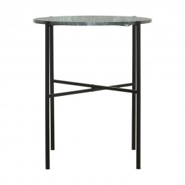 Table basse d'appoint marbre vert métal noir House Doctor The Green