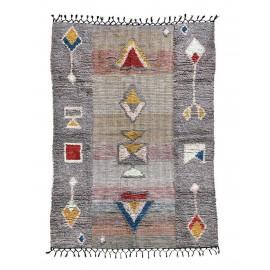 Tapis ethnique coton gris motifs géométriques House Doctor Amara