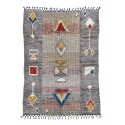 house doctor amara tapis ethnique gris motifs geometriques couleur 140 x 200 cm