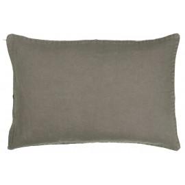 ib laursen housse de coussin rectangulaire lin gris 40 x 60 cm