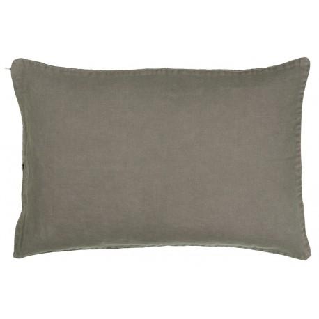 Housse de coussin rectangulaire lin gris IB Laursen 40 x 60 cm