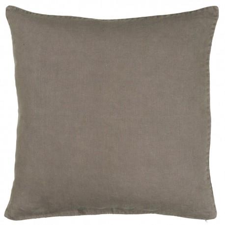 housse de coussin lin gris 50 x 50 cm ib laursen 6203-45