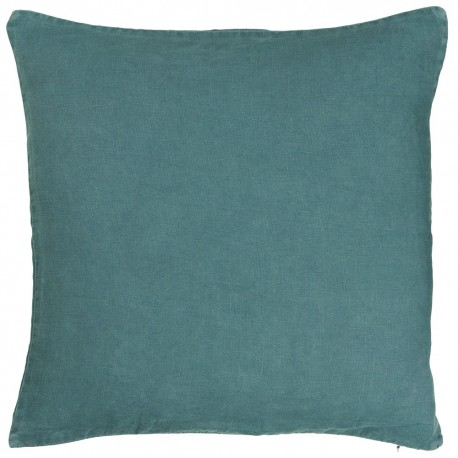 housse de coussin carree lin bleu delave 50 x 50 cm ib laursen 6203-46