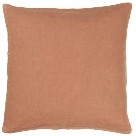 housse de coussin lin beige marron 50 x 50 cm ib laursen 6203-49