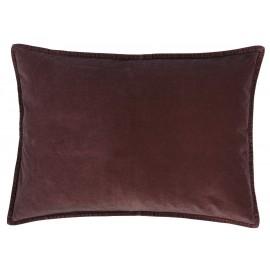 housse de coussin rectangulaire velours aubergine 70 x 50 cm ib laursen
