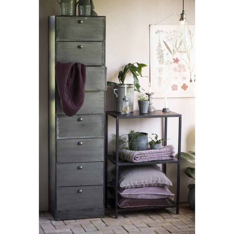 housse coussin rectangulaire velours aubergine 70 x 50 cm. Black Bedroom Furniture Sets. Home Design Ideas