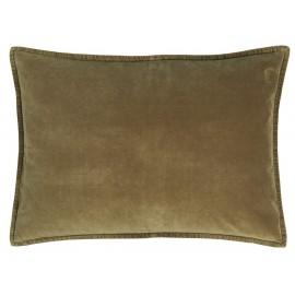 housse de coussin rectangulaire velours vert kaki 50 x 70 cm ib laursen