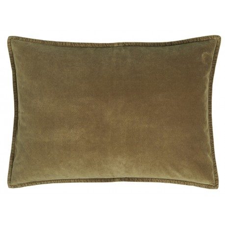 Housse de coussin rectangulaire velours vert kaki IB Laursen 50 x 70 cm