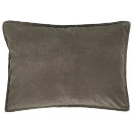 housse de coussin rectangulaire velours gris taupe ib laursen 50 x 70 cm