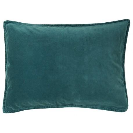 housse de coussin rectangulaire bleu canard ib laursen 50 x 70 cm