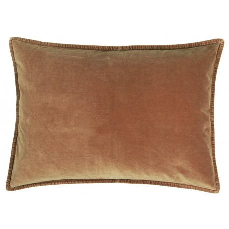 Housse de coussin velours beige marron rectangulaire IB Laursen 50 x 70 cm