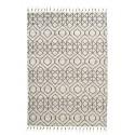 Tapis design coton blanc écru noir House Doctor Reverse 140 x 200 cm