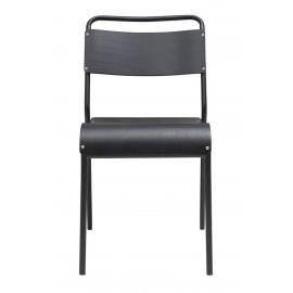 Chaise rétro écolier adulte bois noir métal noir House Doctor Original