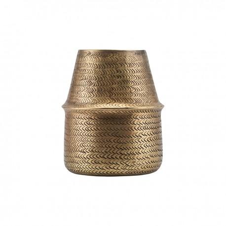 Vase métal laiton aluminium House Doctor Rattan