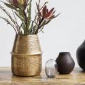 house doctor rattan vase metal laiton aluminium Ic0801