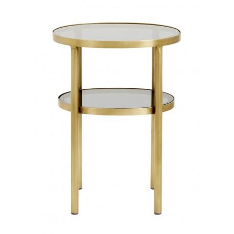 nordal table basse d appoint ovale laiton verre deux plateaux 1892
