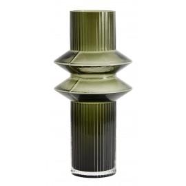 nordal rilla vase verre style art deco vert 9058