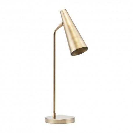 house doctor precise lampe de bureau metal dore laiton