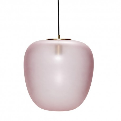 hubsch suspension verre rose ovale