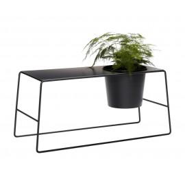 Table basse avec pot de fleur intégré métal noir Hübsch
