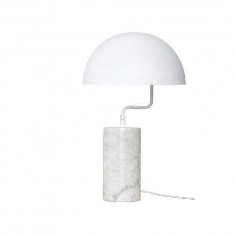 Lampe à poser marbre blanc et métal Hübsch D 38 cm