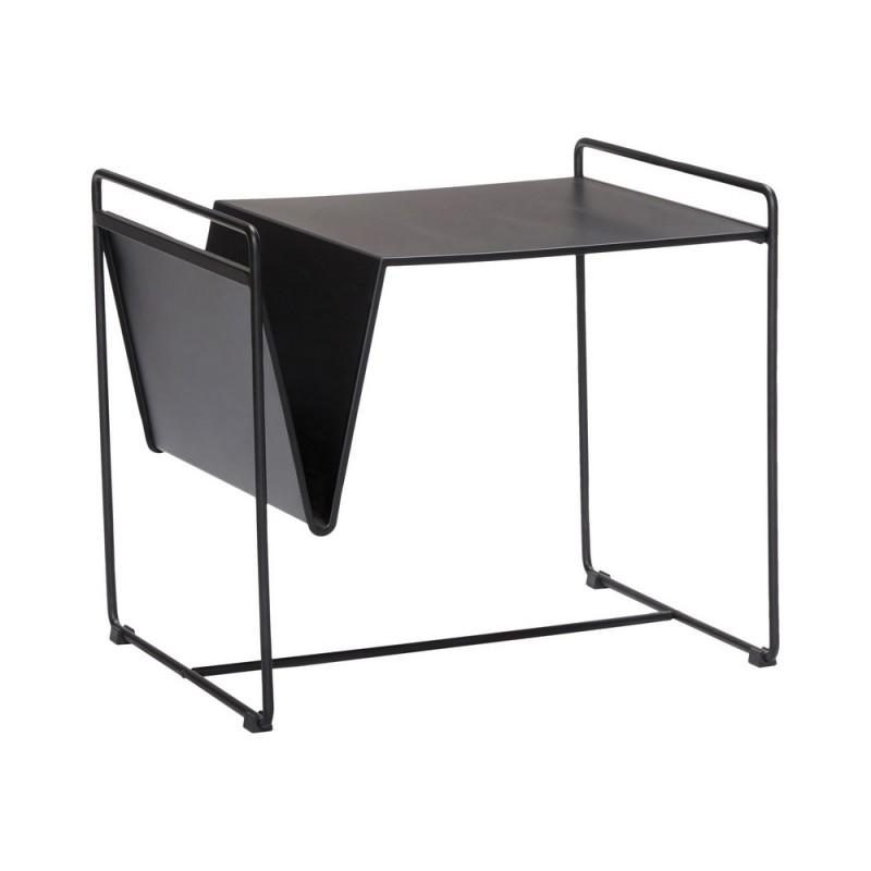 Hubsch Petite Table Basse Design Metal Noir Porte Revues Kdesign