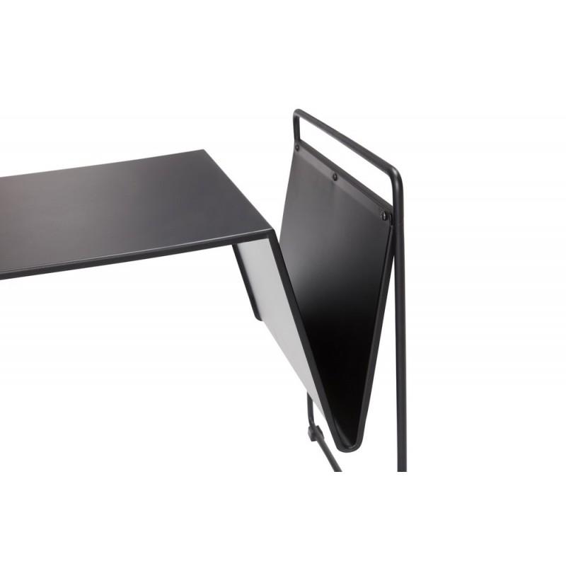 Hubsch Petite Table Basse Design Metal Noir Porte Revues