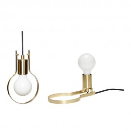 hubsch lampe a poser ampoule metal dore laiton