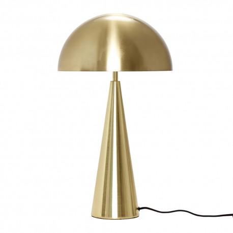 hubsch lampe de table design metal dore laiton forme champignon 990714. Black Bedroom Furniture Sets. Home Design Ideas