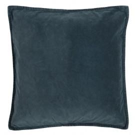ib laursen housse de coussin carre velours bleu marine 50 x 50 cm