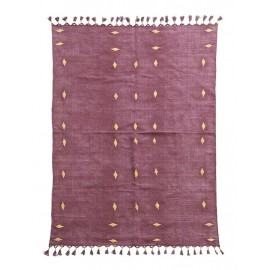 Tapis coton rouge bordeaux House Doctor Backside 200 x 140 cm