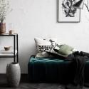house doctor art housse de coussin vert lin coton 50 x 50 cm Ab1021