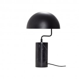 lampe de table design marbre noir hubsch 990718